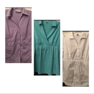 Tops - Bundle of 3 Collared Maternity Shirts XLarge